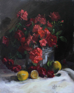 """Bucket of Roses"" by Jeanne Hunkapiller"