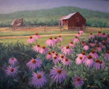 """Cone Flowers"" by Doug Leigh"