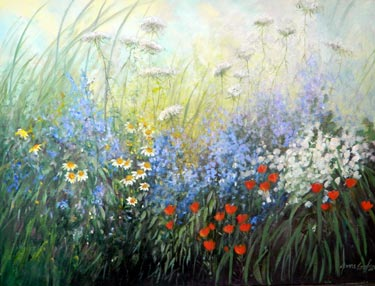 """Glorious August"" - watercolor by Jane Carlson"