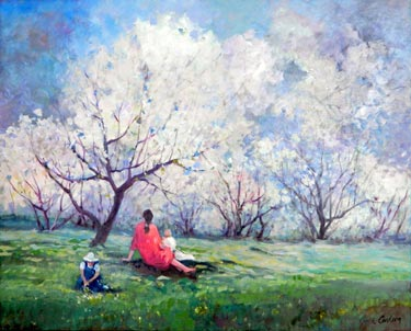 """Glorious Spring"" - watercolor by Jane Carlson"