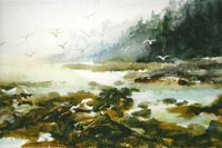 """The Maine Coast""  by Beverly Bourassa - watercolor"