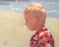 """Boy at the Beach""  by Carol Brightman Johnson"
