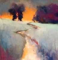 """Destination Variation #1""  by Judy Albright - Pastel"