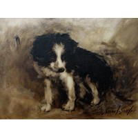 """Tucker""  by Mary Smoot Souter - Oil"