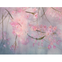 """Cherry Blossoms""  by Naoko Kanno-Nagl - Watercolor"