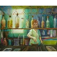"""Alchemy""  by Cindy Sacks - Watercolor"