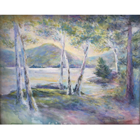"""Silver Bay""  by Trisha Haulenbeek - Watercolor/pastel"