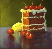 """Red Velvet"" - oil by Judy Albright"