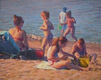 """Afternoon Beach Play""  by Clayton Buchanan"
