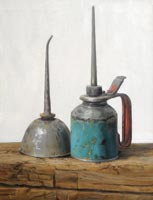 Kent Art Association Award of Excellence for Any Medium – Dorothy Lorenze – Gothic Oilcan – Oil