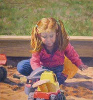Kent Art Association Award for Pastel – Clayton Buchanan – Sandbox Play