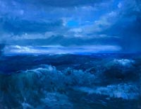 """Retreating Storm""  by Edward DeVoe - oil"